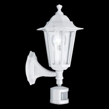 Настенный фонарь Eglo Laterna 5 22464, IP44, 1xE27x60W, белый, прозрачный, металл, металл со стеклом/пластиком