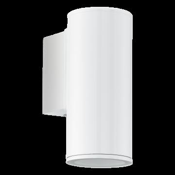 Настенный светильник Eglo Riga 94099, IP44, 1xGU10x3W, белый, металл, стекло