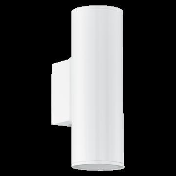 Настенный светильник Eglo Riga 94101, IP44, 2xGU10x3W, белый, металл, стекло