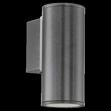 Настенный светильник Eglo Riga 94102, IP44, 1xGU10x3W, серый, металл, стекло