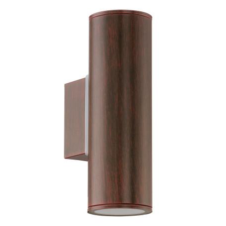 Настенный светильник Eglo Riga 94105, IP44, 2xGU10x3W, коричневый, металл, стекло