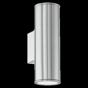 Настенный светильник Eglo Riga 94107, IP44, 2xGU10x3W, сталь, металл, стекло