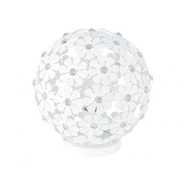 Настольная лампа Eglo Hanifa 92286, 1xE27x60W, белый, прозрачный, металл, стекло