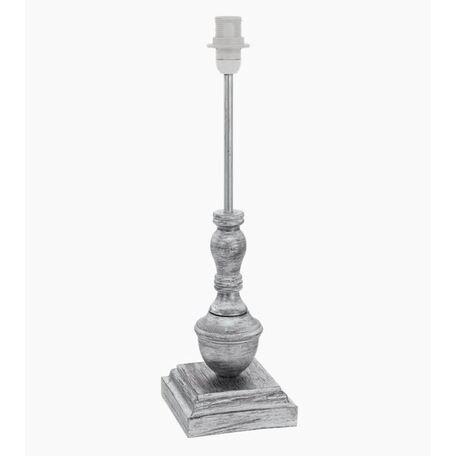 Основание настольной лампы Eglo 1+1 Vintage 49299, 1xE14x40W, серебро, дерево