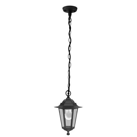 Подвесной светильник Eglo Laterna 4 22471, IP44, 1xE27x60W, черный, прозрачный, металл, металл со стеклом