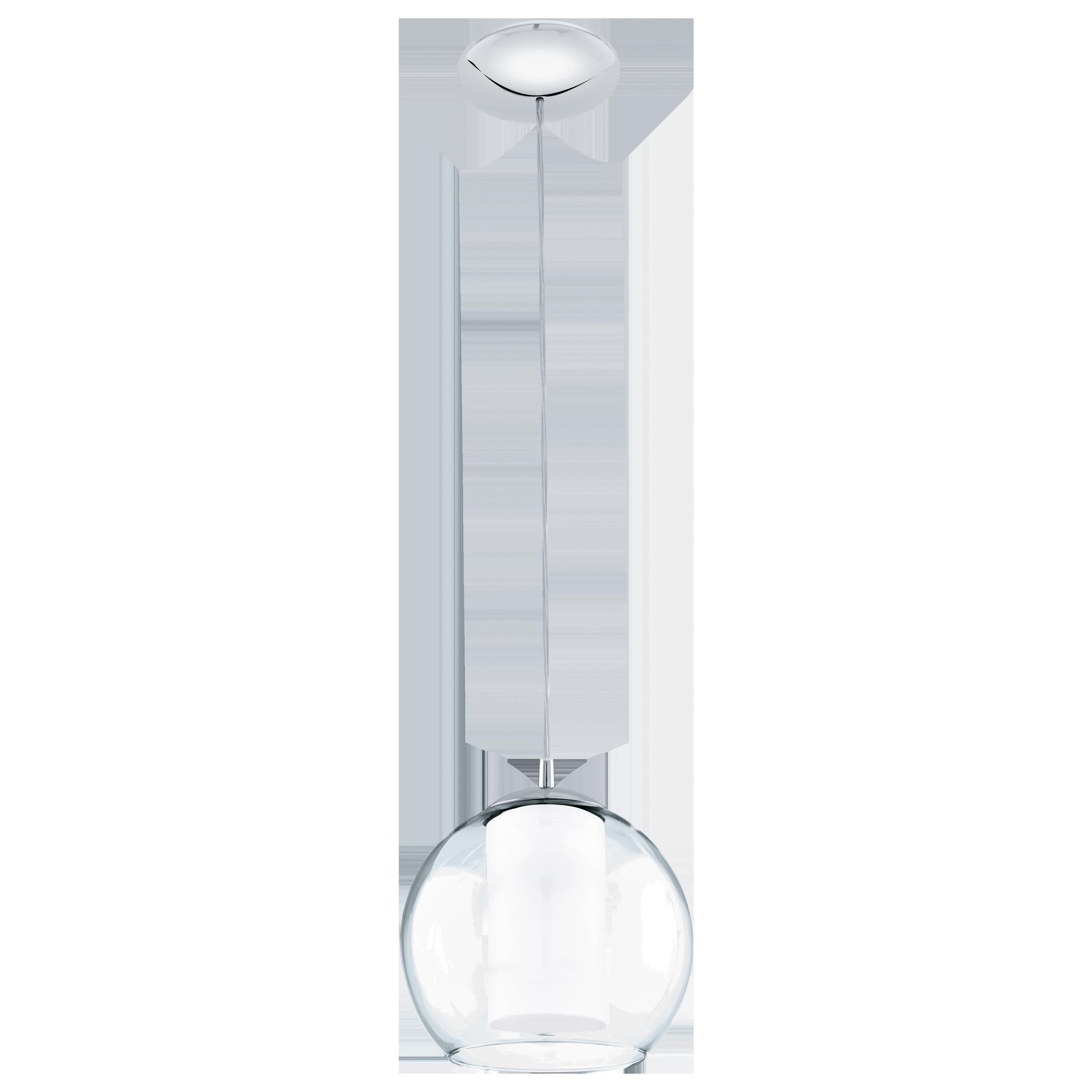 Подвесной светильник Eglo Bolsano 92761, 1xE27x60W, хром, белый, прозрачный, металл, стекло - фото 1