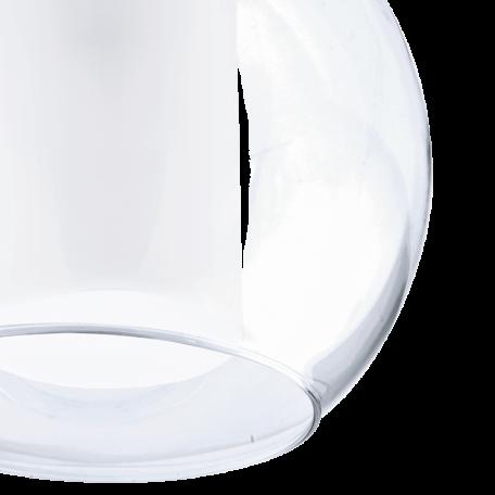 Подвесной светильник Eglo Bolsano 92761, 1xE27x60W, хром, белый, прозрачный, металл, стекло - миниатюра 3