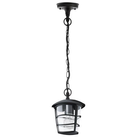 Подвесной светильник Eglo Aloria 93406, IP44, 1xE27x60W, черный, прозрачный, металл, металл с пластиком