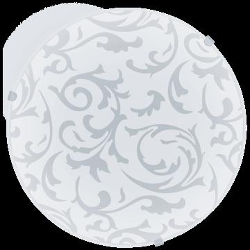 Потолочный светильник Eglo Mars 91236, 1xE27x60W, белый, матовый, металл, стекло