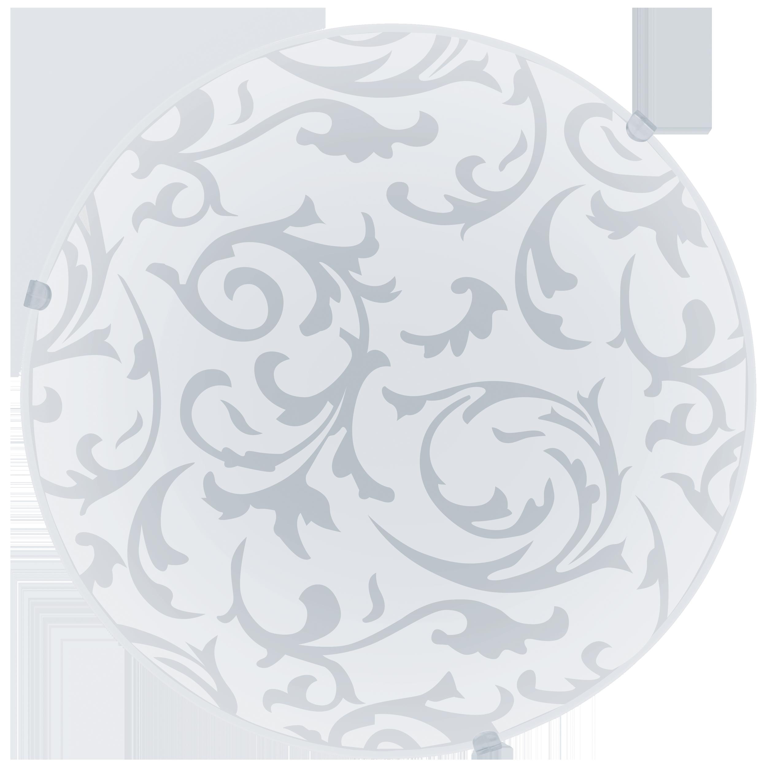 Потолочный светильник Eglo Mars 91236, 1xE27x60W, белый, металл, стекло - фото 1