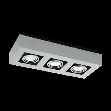 Потолочный светильник Eglo Loke 1 91354, 3xGU10x5W, алюминий, хром, металл