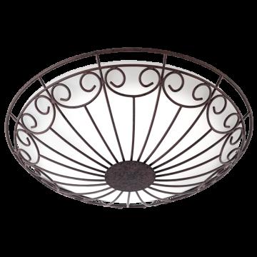 Потолочный светильник Eglo Colti 92143, 2xE27x25W, коричневый, белый, металл, стекло