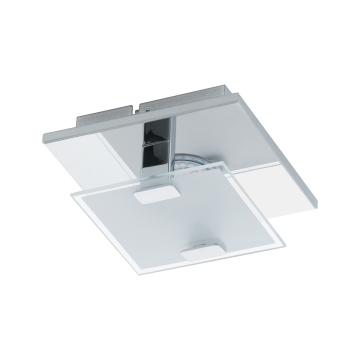 Потолочный светодиодный светильник Eglo Vicaro 93311, LED 2,5W, хром, матовый, металл, стекло