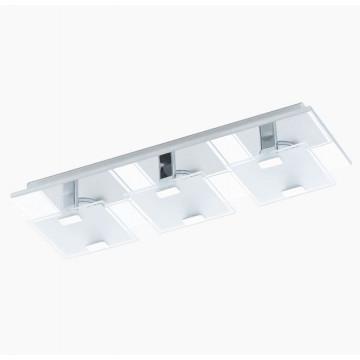 Потолочный светодиодный светильник Eglo Vicaro 93313, LED 7,5W, хром, матовый, металл, стекло - миниатюра 1