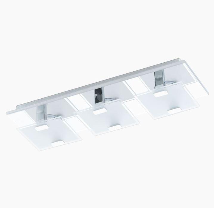 Потолочный светодиодный светильник Eglo Vicaro 93313, LED 7,5W, хром, матовый, металл, стекло - фото 1