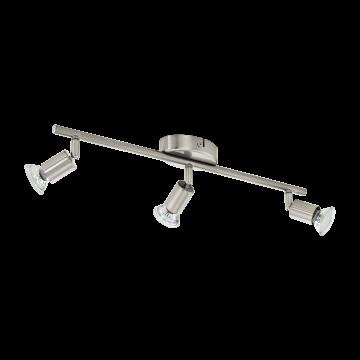 Потолочный светильник с регулировкой направления света Eglo Buzz-LED 92597, 3xGU10x3W, никель, металл - миниатюра 1