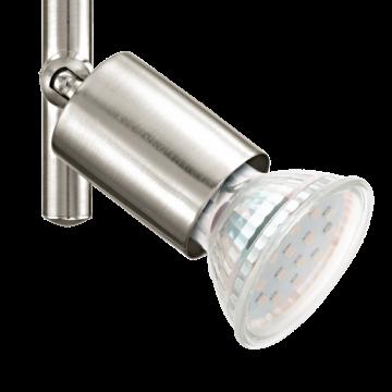 Потолочный светильник с регулировкой направления света Eglo Buzz-LED 92597, 3xGU10x3W, никель, металл - миниатюра 2