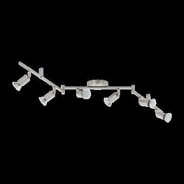 Потолочный светильник с регулировкой направления света Eglo Buzz-LED 92599, 6xGU10x3W, никель, металл
