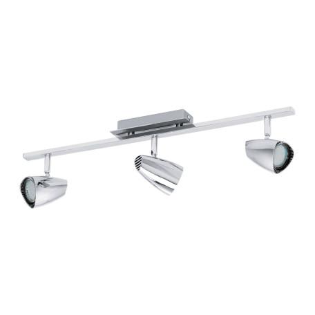 Потолочный светильник с регулировкой направления света Eglo Corbera 93674, 3xGU10x3W, хром, металл