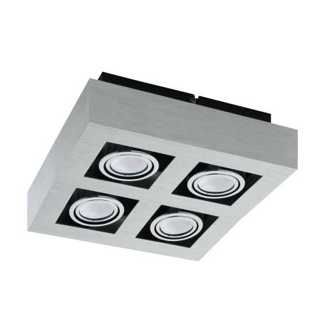Потолочный светильник Eglo Loke 1 91355, 4xGU10x5W, алюминий, хром, металл
