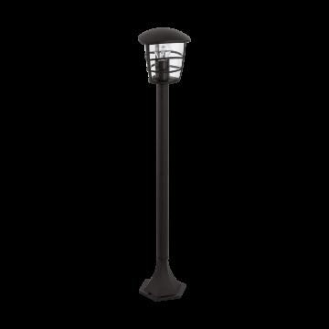 Садово-парковый светильник Eglo Aloria 93408, IP44, 1xE27x60W, черный, прозрачный, металл, металл со стеклом/пластиком