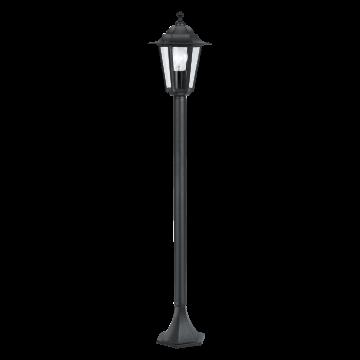 Уличный фонарь Eglo Laterna 4 22144, IP44, 1xE27x60W, черный, прозрачный, металл, металл со стеклом/пластиком