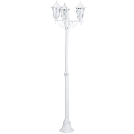 Уличный фонарь Eglo Laterna 5 22996, IP44, 3xE27x60W, белый, прозрачный, металл, металл со стеклом