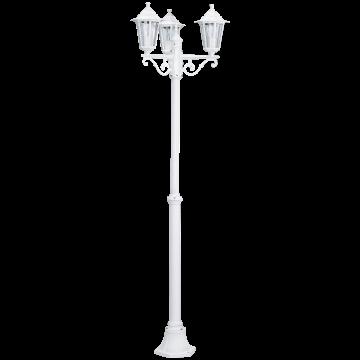Уличный фонарь Eglo Laterna 5 22996, IP44, 3xE27x60W, белый, прозрачный, металл, металл со стеклом/пластиком