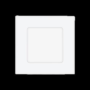 Встраиваемая светодиодная панель Eglo Fueva 1 94046, LED 2,7W 4000K 360lm CRI>80, белый, металл с пластиком, пластик