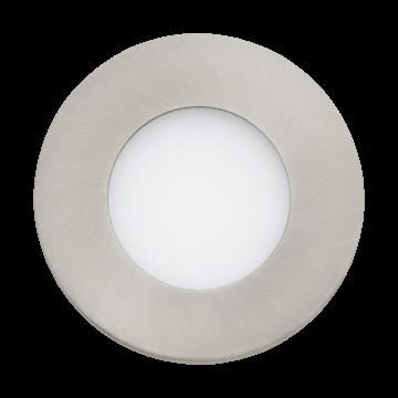 Встраиваемая светодиодная панель Eglo Fueva 1 94518, LED 2,7W 3000K 300lm CRI>80, никель, металл с пластиком, пластик