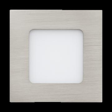 Встраиваемая светодиодная панель Eglo Fueva 1 94519, LED 2,7W, никель, металл, пластик