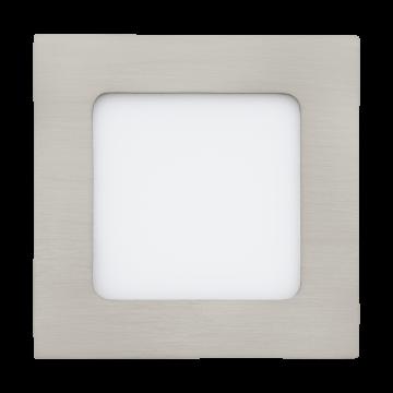 Встраиваемая светодиодная панель Eglo Fueva 1 94522, LED 5,5W, 3000K (теплый), никель, металл, пластик