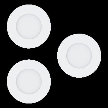 Встраиваемая светодиодная панель Eglo Fueva 1 94732, LED 8,1W, белый, металл, пластик