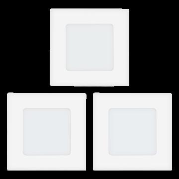 Встраиваемая светодиодная панель Eglo Fueva 1 94733, LED 2,7W, 3000K (теплый), белый, металл, пластик