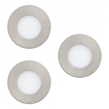 Светодиодная панель Eglo Fueva 1 94734, LED 8,1W 3000K 300lm CRI>80, никель, металл с пластиком, пластик