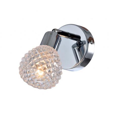Настенный светильник с регулировкой направления света Globo Keith 541006-1, 1xE14x40W, металл, стекло
