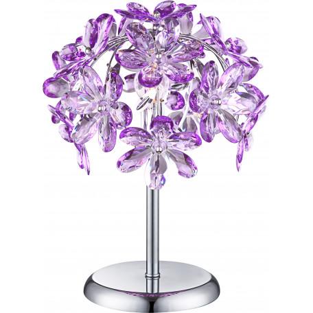 Настольная лампа Globo Purple 5142-1T, 1xE14x40W, металл, пластик