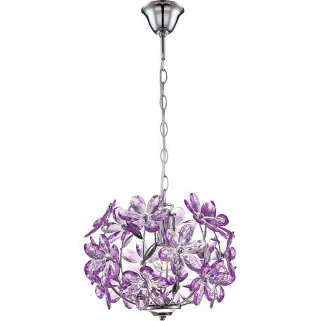 Подвесная люстра Globo Purple 5143, 1xE27x60W, металл, пластик