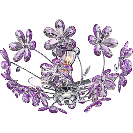 Потолочная люстра Globo Purple 5142, 3xE14x40W, металл, пластик