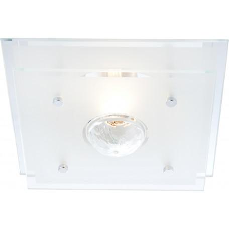 Потолочный светильник Globo Malaga 48328, 1xE27x60W, металл, стекло