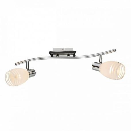 Потолочный светильник с регулировкой направления света Globo Toay 541010-2, 2xE14x40W, металл, дерево, стекло