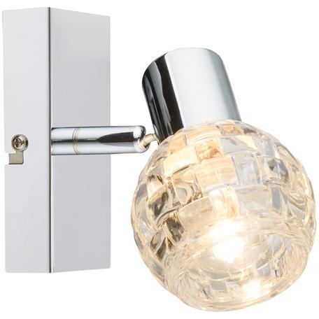 Настенный светильник с регулировкой направления света Globo Keith I 541007-1, 1xE14x40W, металл, стекло