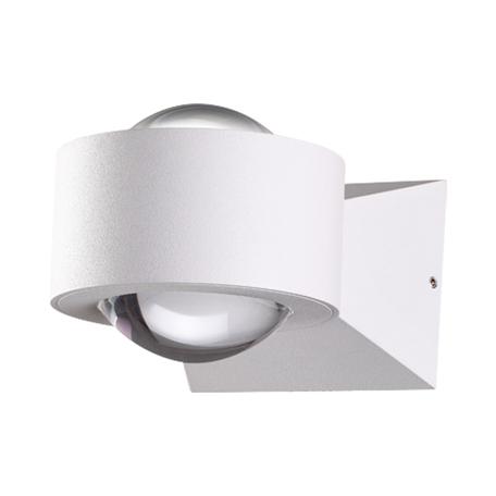 Настенный светодиодный светильник Novotech Calle 358153, IP54, LED 6W 4000K 600lm, белый, металл, металл со стеклом