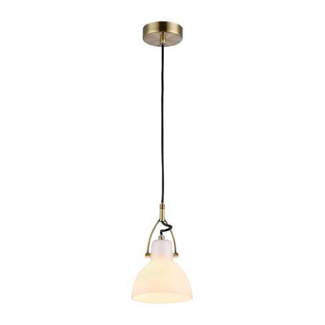 Подвесной светильник Maytoni Daniel MOD407-PL-01-BZ, 1xE14x40W, бронза, белый, металл, стекло