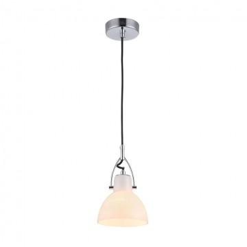 Подвесной светильник с регулировкой направления света Maytoni Daniel MOD407-PL-01-N, 1xE14x40W, никель, белый, металл, стекло