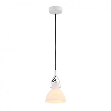 Подвесной светильник с регулировкой направления света Maytoni Daniel MOD407-PL-01-W, 1xE14x40W, белый, металл, стекло