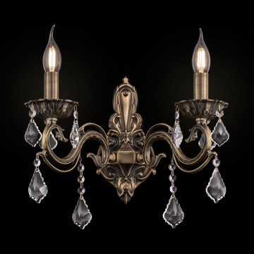 Бра Maytoni Bronze RC245-WL-02-R (arm245-02-r), 2xE14x60W, бронза, прозрачный, металл, стекло