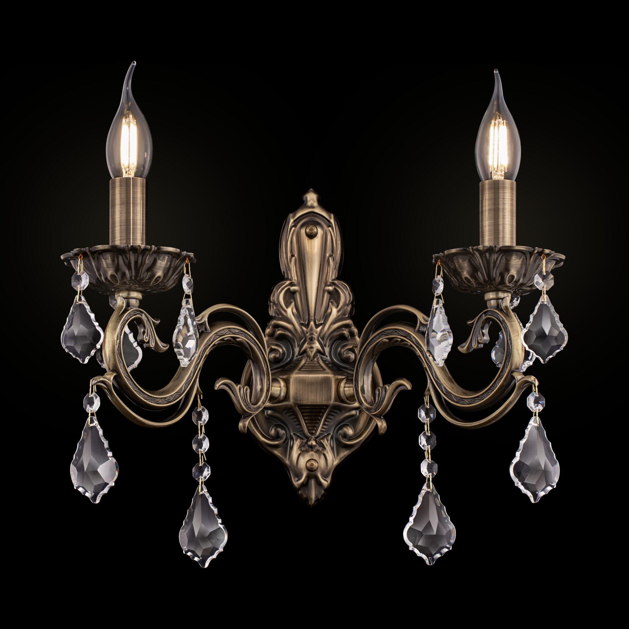 Бра Maytoni Bronze RC245-WL-02-R (arm245-02-r), 2xE14x60W, бронза, прозрачный, металл, стекло - фото 1