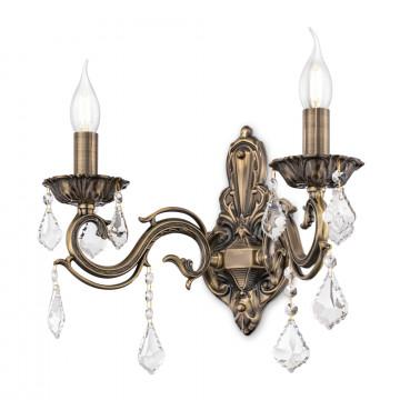 Бра Maytoni Bronze RC245-WL-02-R (arm245-02-r), 2xE14x60W, бронза, прозрачный, металл, стекло - миниатюра 2