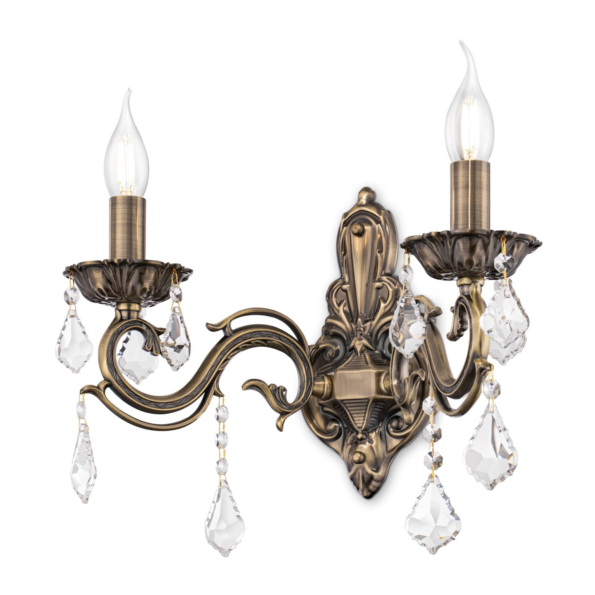 Бра Maytoni Bronze RC245-WL-02-R (arm245-02-r), 2xE14x60W, бронза, прозрачный, металл, стекло - фото 2